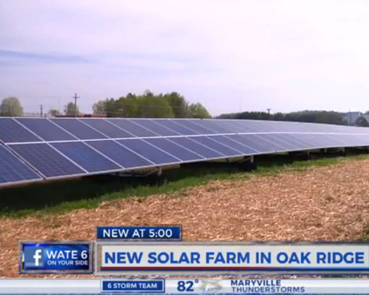 New Oak Ridge solar farm - Video